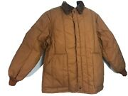 Walls Blizzard Pruf Coat Insulated Brown Quilted Zippered Jacket Mens Xl Tall