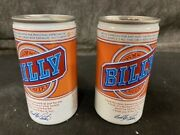 Billy Carter Empty Beer Cans 12 Fl Oz Vintage Collectible Display