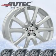 4 Jantes And Pneus Hiver Skandic 17j Sil 215/50 R17 95v Pour Ford Focus Michelin A