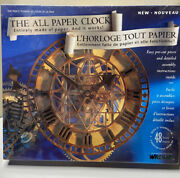 Wrebbit The All Paper Working Clock 3d Model Kit New Sealed 1993 90s Vintage