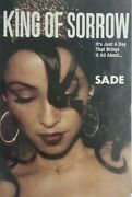 Framed 2001 Sade King Of Sorrows Concert Poster With 2 Ticket Stubs Msg New York