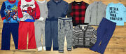 Boys Size 4t And 4/5 Lot Of 14 Items Pajamas Jacket Sweater Pants Thermals Winter