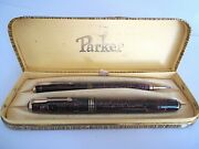 Cultissime Set Pens Parker Vacumatic In Box For Collectors C3