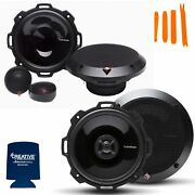 Rockford Fosgate 1 Pair Of P152-s Punch 5.25 Component Systems And 1 Pair Of