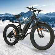 1000w-26in、48v=tire Electric Bike Mountain Bicycle Snow Beach City=ebike+battery
