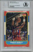 Charles Barkley Signed Autographed 1986-87 Fleer Rookie Card Rc 7 Beckett Bas