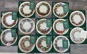 Lenox - 13 Us Colonies Annual Christmas Wreath Plates Mint Condition In Boxes