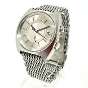 Omega 166.072 Antique Date Seamaster Memomatic Automatic Watch Ss Men's Silver