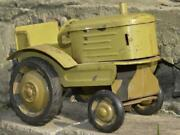 1950and039s Rare Vintage Russian Ussr Tin Toy Model Machine Tractor Bulldozer Gift