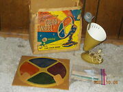 Vintage Spartus Rotating Color Wheel For Aluminum Christmas Tree W/box Model 886