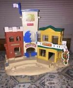 Vintage Fisher Price Great Adventures Wild West Hotel Sheriff Bank