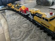 Cat Caterpillar Construction Express Toy Train Set Battery Powered Track Works