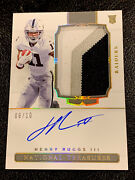 2020 Panini National Treasures Henry Ruggs Patch Auto Rc 3 Color Gold Holo /10