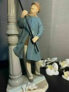 Lladro Lamplighter Figurine 01005205 Porcelain Gloss Made In Spain