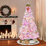 Artificial Pine Christmas Tree Pink White Xmas Tree Home Decorations 7ft/8ft