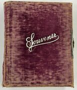 Antique Western Ma. Family Photo Album With Tintypes And Cabinet Cards