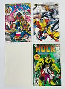 Lot Of 4 Early 90andrsquos Marvel Comics - Uncanny Xmen Incredible Hulk And Fantastic 4