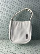 Hayward Womens Guide Bag In Blanco Crinkle Leather White