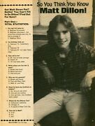 Matt Dillon Pinup Clipping From A Magazine 80's Sexy In Tight Jeans