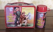 Vintage 1968 The Guns Of Will Sonnett Lunchbox And Thermos