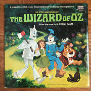 Walt Disney - The Story And Songs Of The Wizard Of Oz Lp Disneyland 3957 Vg+