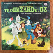 Walt Disney - The Story And Songs Of The Wizard Of Oz Lp Disneyland W Booket Vg+