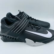 Nike Savaleos Weightlifting Shoes Black White Menand039s Size 10.5 Cv5708-010 No Lid