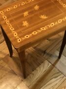 Small Italian Vintage Music Box, Jewelry Sewing End Table, Inlay Wood, Gorgeous