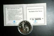 American Mint Statue Of Liberty The Birth Of Our Nation Coin - Coa '07