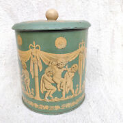 1940s Vintage Angel Graphics Britannia Biscuit Confectionery Advertising Tin Box
