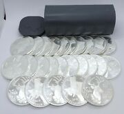 Roll Of 25 Texas Precious Metal 2015 Whitetail Deer 1 Oz .9999 Silver Rounds