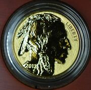 2013-w 1ozt Reverse Proof Gold American Buffalo Coin Ogp And Coa Andbull6721andbull