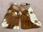 Vtg Chaps 1970s Western Cowboy Handcrafted Authentic Cowhide Child Sz 5t Origown