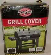Char Griller Double Play Grill Smoker Cover 5650 93560 Water Resist Black Vinyl