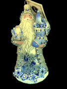 2021 Sold Out Hcb Godwin Claus Blue Peacock Patricia Breen Ornament