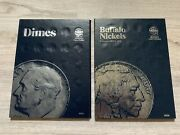Lot Of 2 New Coin Collection Folder Dimes And Buffalo Nickels