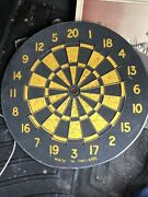 Vintage Double-sided Dart Board Bowling Made In England