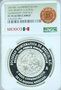 2001 Mexico Silver 1833 1/16 Real Ngc Pf 70 Ultra Cameo Extremely Rare Perfect