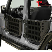 Tidal Matrix Tubular Door Left Right With Mirror Pair Fit For 07-18 Jeep Jk 4dr
