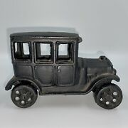 Antique Vintage Cast Iron Toy Car Truck Black Unmarked Rolls Smoothly Free Ship