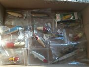 Antique Estate Lot Fishing Lures 14 Pc Wood More Collection