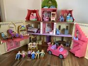 Lot Of Fisher-price Loving Family Dream Dollhouse Car Figures Toys Doll House