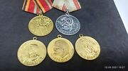 Lot Of 5 - Russian Ussr Military Medals