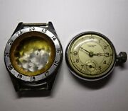 Military Antique Double Windshield Clock Watch Vintage From Japan