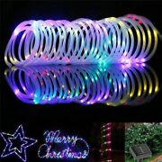 Solar Powered Rope Tube String Lights 100/200 Leds Outdoor Waterproof Christmas
