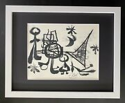 Joan Miro   Vintage 1958 Signed   Matted At 11x14 Offset Lithograph Buy It Now