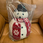 Pottery Barn Archie Snowman Shaped Pillow Brand New Sold Out Christmas Nwt Htf