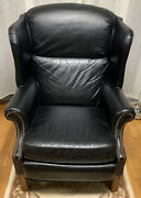 Barcalounger Churchill Shoreham Leather Recliner Chair-black Pick Up Only