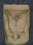 Vtg Nos Ww2 Meat Can Pouch W/ M1928 Haversack Front Flap Cut Down Wwii Unused