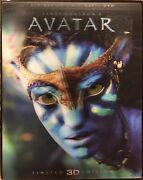 Avatar 3d And 2d Blu-ray Dvd Limited Edition Lenticular Slipcover 2-disc Thx